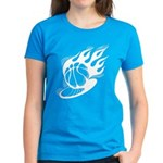 Flaming Basketball Women's Dark T-Shirt