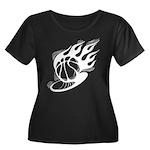 Flaming Basketball Women's Plus Size Scoop Neck Da