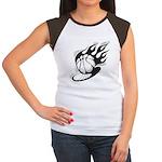 Flaming Basketball Women's Cap Sleeve T-Shirt