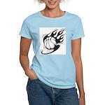 Flaming Basketball Women's Light T-Shirt