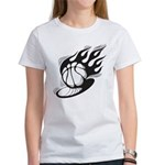 Flaming Basketball Women's T-Shirt