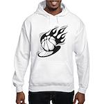Flaming Basketball Hooded Sweatshirt