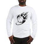 Flaming Basketball Long Sleeve T-Shirt