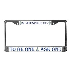 Statesville Lodge License Plate Frame