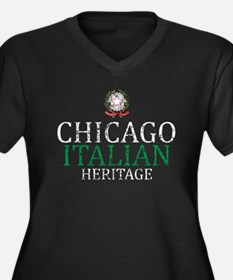 Chicago Italian Heritage Women's Plus Size V-Neck