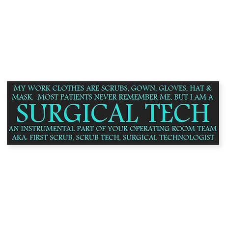Surgical Technologist Bumper Sticker