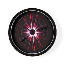 Red Solar Eclipse Clock
