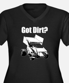 Got Dirt? Women's Plus Size V-Neck Dark T-Shirt