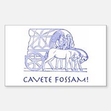 Fossa Rectangle Sticker 10 pk)
