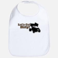 Let's Get Dirty! - Gray Bib
