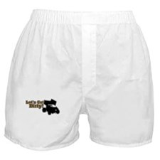 Let's Get Dirty! - Gray Boxer Shorts