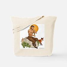 Satyr Playing Pan Pipes Tote Bag