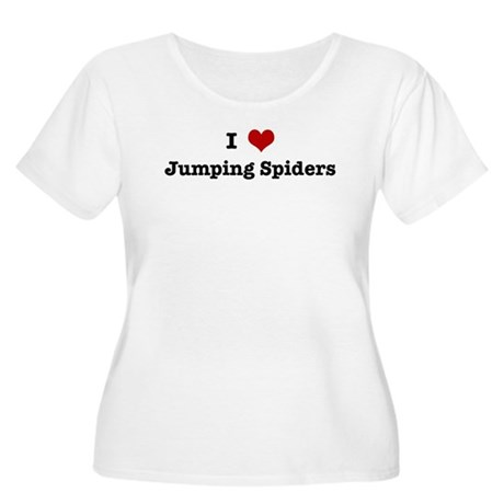 I love Jumping Spiders Women's Plus Size Scoop Nec