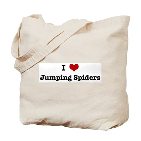 I love Jumping Spiders Tote Bag