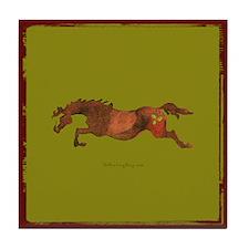 Christmas Horse Tile Coaster