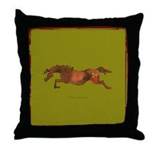 Christmas Horse Throw Pillow