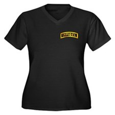 Infidel Tab Women's Plus Size V-Neck Dark T-Shirt