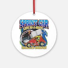 Sprint Car Life Ornament (Round)
