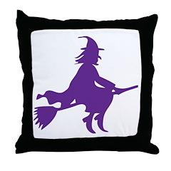 Halloween Witch Throw Pillow