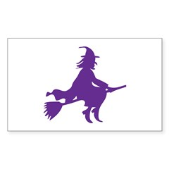 Halloween Witch Rectangle Sticker 10 pk)