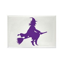 Halloween Witch Rectangle Magnet