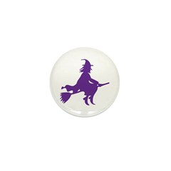 Halloween Witch Mini Button (100 pack)