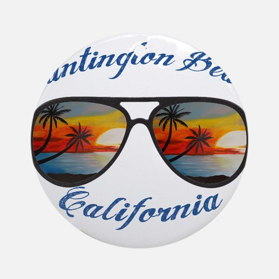 California - Huntington Beach Round Ornament