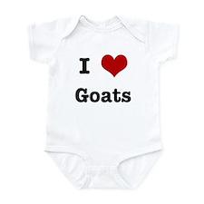 I love Goats Infant Bodysuit