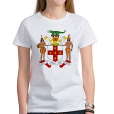 Jamaica Coat of Arms Women's White T-Shirt