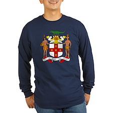 Jamaica Coat Of Arms Dark Long Sleeve T-Shirt
