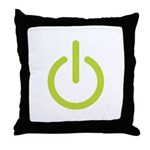 Power Symbol Throw Pillow