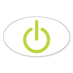 Power Symbol Oval Sticker (50 pk)