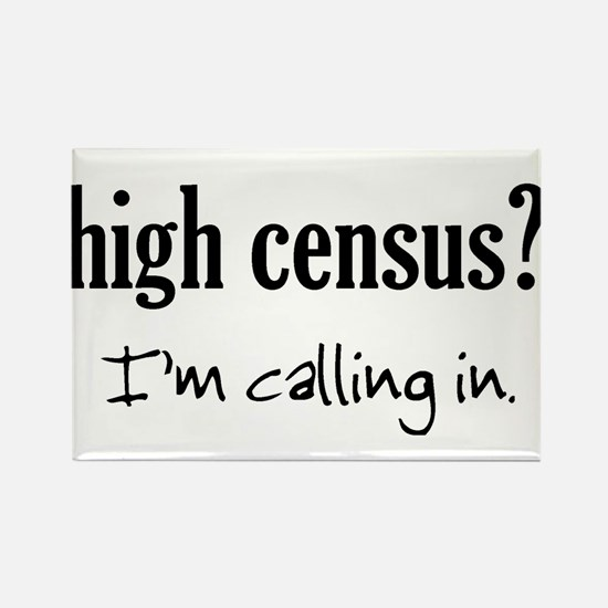 High Census Nursing Rectangle Magnet
