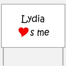Funny Lydia Yard Sign