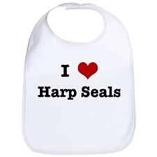 I love Harp Seals Bib