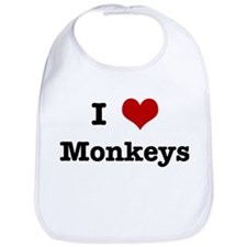 I love Monkeys Bib
