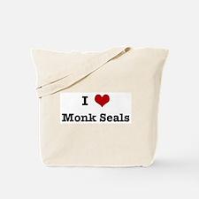 I love Monk Seals Tote Bag