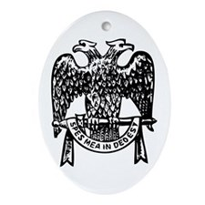 Double Headed Eagle Oval Ornament