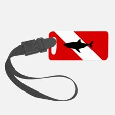 Diving Flag: Shark Luggage Tag