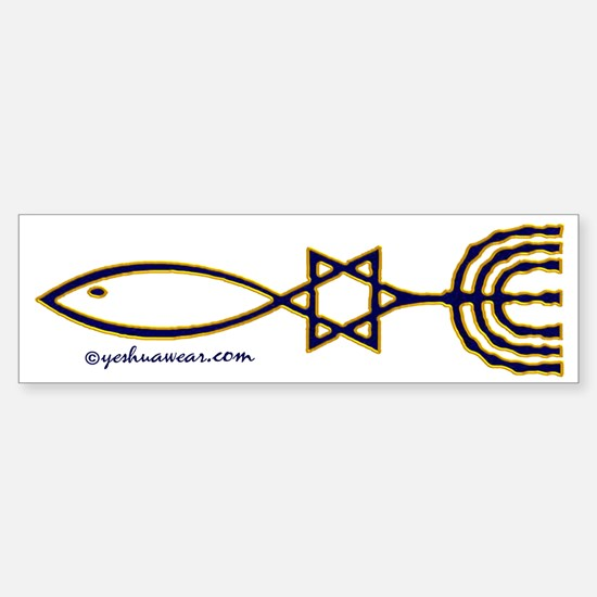 Messianic Seal Of Jerusalem Bumper Bumper Bumper Sticker
