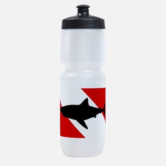 Diving Flag: Shark Sports Bottle