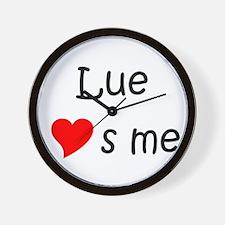Cute Lue Wall Clock
