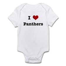 I love Panthers Infant Bodysuit