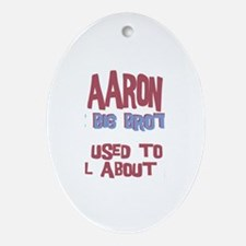 Aaron - All About Big Brother Oval Ornament