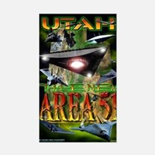 Utah The New Area 51 Rectangle Decal