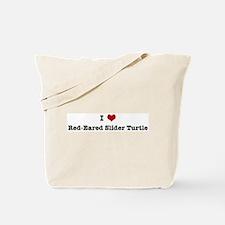 I love Red-Eared Slider Turtl Tote Bag