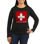 Swiss Cross-2 Women's Long Sleeve Dark T-Shirt