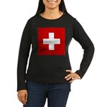 Swiss Cross-1 Women's Long Sleeve Dark T-Shirt