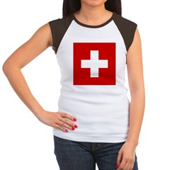 Swiss Cross-1 Women's Cap Sleeve T-Shirt