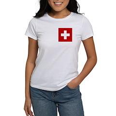 Swiss Cross-1 Women's T-Shirt